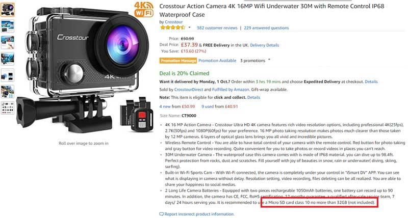 Kartica microsd32gb je ponavadi dovolj za starejše fotoaparate